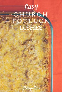 Potluck Dishes: 19 Best Casserole Recipes for a Crowd Church Potluck Dishes: 15 Best Casserole Recipes for a Crowd Crockpot Potluck, Best Potluck Dishes, Church Potluck Recipes, Main Dish For Potluck, Easy Potluck Recipes, Potluck Dinner, Cooking Recipes, Potluck Ideas, Potluck Food
