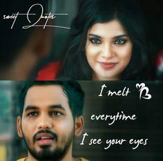 I sart melting like ice. Love Quotes With Images, Like Quotes, Cute Love Quotes, Girly Quotes, Tamil Movie Love Quotes, Favorite Movie Quotes, Hip Hop Images, Tamil Songs Lyrics, Nazriya Nazim