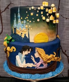 Tangled Cake from Cake Central via That's Nerdalicious.