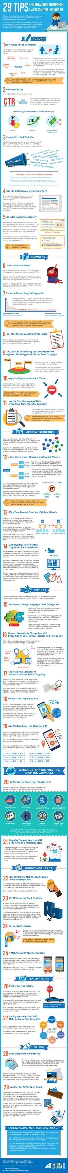 29 Tips for AdWords Beginners I Wish Someone Had Told Me - [Infographic]