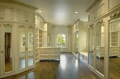 Wonderful elegant walk in closet