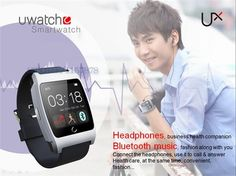 U Watch UX Wristwatch Heart Rate Monitors Bluetooth Smartwatch | eBay