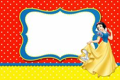 Snow White: Free Printable Invitations, Labels or Cards. Happy Birthday Signs, Girl Birthday Themes, Happy Birthday Messages, Kids Party Themes, Happy Birthday Greetings, Party Ideas, Free Baby Shower Invitations, Free Printable Birthday Invitations, Birthday Invitations Kids