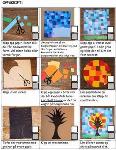 Kunst og handverk med TE: Haustbilde i kald-varm kontrast