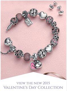 Pulsera de san Valentín  Pandora