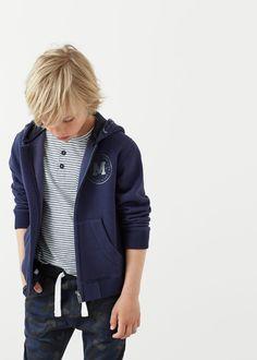 Sudadera algodón capucha -  Niños   MANGO Kids España