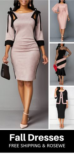 Best Vintage Outfits Part 24 Classy Dress, Classy Outfits, Vintage Outfits, Fashion Fall, Fashion Outfits, Womens Fashion, Frock For Women, Latest African Fashion Dresses, Fall Dresses