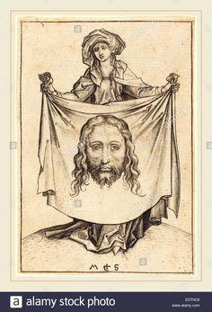 martin-schongauer-german-c-1450-1491-saint-veronica-c-1480-engraving-EDT0C8.jpg (944×1390)