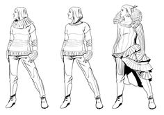 Concept Clothing  by ObalofSerbia  Some sketches i did a while ago for four page comic that i did, done in Paint Tool Sai .