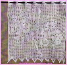 Cortinas De Crochê Com Flores