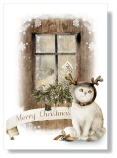 """""""Cozy Cat (Design Your Holiday Greeting Card) - Top Art Set, 12/1/16"""" by leslee-dawn ❤ liked on Polyvore featuring art"""