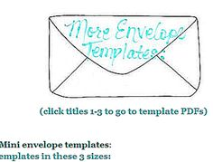 Make These Blank, Easily Decorated Envelope Templates Your Next Crafts Project: Mel Stampz Envelope Templates