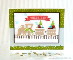 Christmas Sequin Train card #clearlybesotted #sequins #christmas