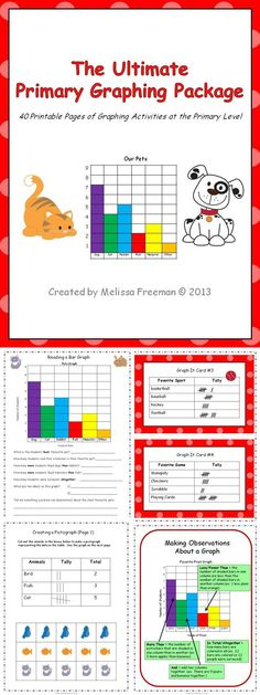 This fantastic package now has 45 pages (worksheets, posters, word wall words, a graphing math center, and a test!) Be sure to check out the preview!