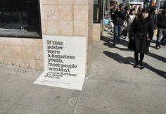 Advertising #homeless #poster