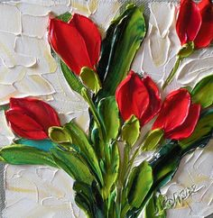 Red Tulips Painting by Jan Ironside - Red Tulips Fine Art Prints and Posters for Sale