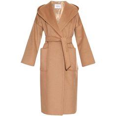 Max Mara Goloso coat found on Polyvore featuring outerwear, coats, coats & jackets, max mara, camel, camel coat, belted camel coat, maxmara, belted coat and maxmara coat