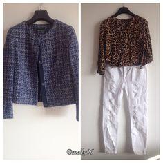 Giacca chanel Benetton, blusa G.sel e jeans Zara