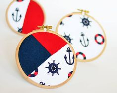 Set of 3 Wall Art - Nautical home decorations Handmade by CoutureByAyca
