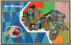 Africa * Air Afrique travel poster