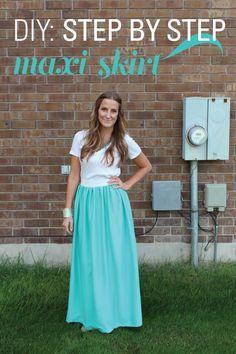 DIY skirt : DIY: Maxi Skirt