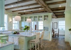 Wow! Love this mint kitchen!! Donald Lococo Architects | Classic | Classic Kitchens