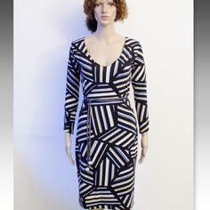 Originale robe !! muriel !! en jersey imprime noir/multicolore, long 102cm taille: 38/40 belicious-delicious-creation