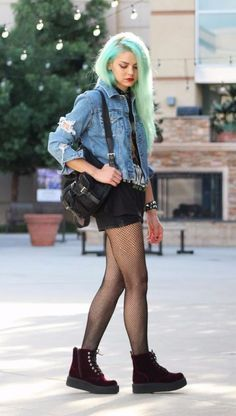 estilo grunge denim
