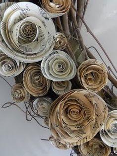Sheet music wreath.  So easy and CHEAP!