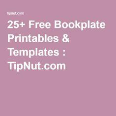 25+ Free Bookplate Printables & Templates : TipNut.com