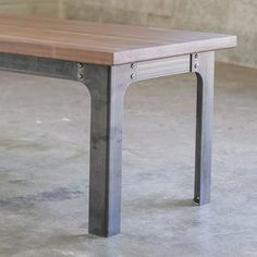 Bold MFG's Kindred Table Base Series allows you to easily configure your own custom steel table base to use with any table top you'd like. This table base system is perfect for breathing new life into