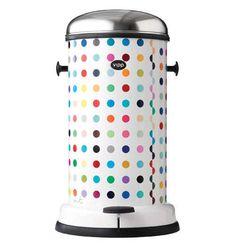 Polka Dot Garbage Can #GarbageCan #DamienHirst #Kitchen
