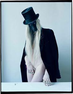 Kristen McMenamy by Tim Walker, Sunday Times Style magazine, September 2013. Black, liquid