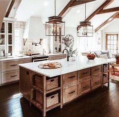 Rustic Country Kitchen Ideas - Find and save ideas about country kitchen design . - Rustic Country Kitchen Ideas – Find and save ideas about country kitchen design Ideas on diycorne - Farmhouse Kitchen Cabinets, Farmhouse Style Kitchen, Home Decor Kitchen, Kitchen Country, Kitchen Decorations, Rustic Farmhouse, Kitchen Rustic, Farmhouse Ideas, Kitchen Sinks