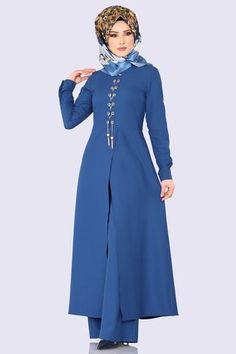 Dress With Cardigan, The Dress, High Neck Dress, Abaya Fashion, Fashion Dresses, Maxi Dresses, Kebaya Muslim, Indonesian Girls, Mavis