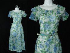Vintage 40s Dress / Vintage 1940s Dress XXS / by Vintagephilosophy, $69.00