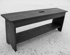 Grey Bench - Entryway Bench - Shoe Storage Bench - Coffee Table - Wood Bench, Custom
