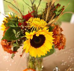 arranjos mesa casamento girassol - Pesquisa Google