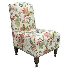 Odette Accent Chair- I want my Queen Anne chairs recovered with a print.