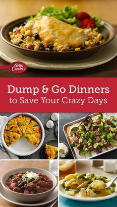 You Have Meals Poisoning More Normally Than You're Thinking That Dont Let A Frantic Schedule Foil Your Plans For A Delicious Family Dinner. We've Got The Recipes You Need To Take The Pressure Off Your Weeknights Casserole Recipes, Crockpot Recipes, Cooking Recipes, Healthy Recipes, Dump Recipes, Family Recipes, Dump Meals, One Pot Meals, Freezer Meals