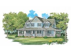 Farmhouse House Plan with 1640 Square Feet and 3 Bedrooms from Dream Home Source | House Plan Code DHSW37596