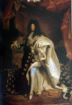 Louis XIV was the King of France during La Salle's time. (Portrait of Louis XIV by Hyacinthe Rigaud , XVIIth century © RMN / Daniel Arnaudet / Gérard Blot) Chateau Versailles, Palace Of Versailles, Louis Xiv Versailles, French History, Art History, European History, History Posters, Marie Antoinette, Versailles