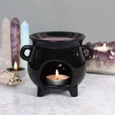 This cauldron shaped oil / wax melt burner would make a great gift for a witchy loved one, or as a quirky addition to your home. Visit us today for a great range of curious gifts and decor.