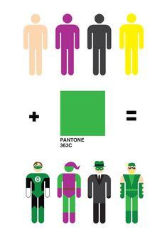 Hombresitos de Colores + Pantone 363c