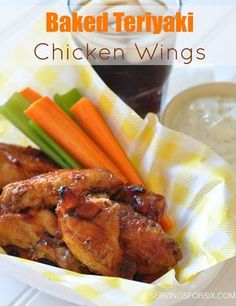 Baked Teriyaki Chicken Wings