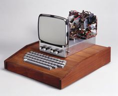 Apple I computer, 1976. This was the first computer made by Apple Computers Inc
