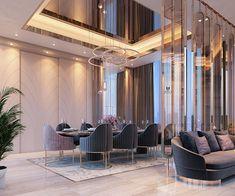 Dining Area Design, Living Room Sofa Design, Modern Bedroom Design, Home Room Design, Living Room Designs, Flat Interior Design, Colorful Interior Design, Hall Interior, Mansion Interior