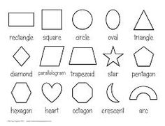 9 Best Types Of Shapes Images Shapes Their Names Types Of Shapes