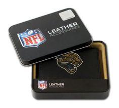 Jacksonville Jaguars Embroidered Leather Tri-Fold Wallet