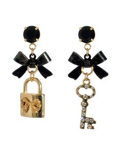 Betsey Johnson Earrings, Bow and Charm Drop - Fashion Earrings - Jewelry & Watches - Macy's